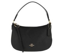 Umhängetasche Polished Pebble Leather Sutton Crossbody Bag Black schwarz
