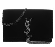 YSL Monogramme SL Kate Satchel Bag Black Tasche