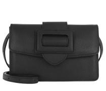 Gürteltasche Calf Adria Crossbody Belt Bag Black/Nickel schwarz
