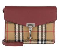 Umhängetasche Macken Crossbody Vintage Check Leather Mini Crimson rot