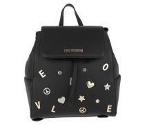 Rucksack Vitello Grain Backpack Nero schwarz