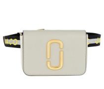 Umhängetasche Logo Strap Hip Shot Bag Leather Dust Multi grau