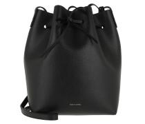 Beuteltasche Bucket Bag Leather Black/Fiamma schwarz