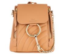 Faye Backpack Leather Blushy Pink Rucksack