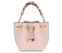 Leather Drawstring Bag Adjustable Strap Antique Rose Tasche