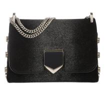 Locket Mini Shoulder Bag Suede/Sprayed Glitter Black/Champagne Tasche