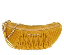 Gürteltasche Velvet Belt Bag Senape gelb