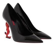 Opyum 110 Patent Pump Red Heel Black Pumps