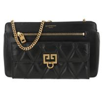Umhängetasche Pocket Bag Diamond Quilted Leather Black schwarz