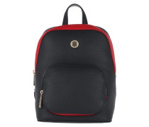 TH Core Backpack Tommy Navy/Tommy Red Rucksack rot