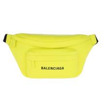 Gürteltasche Everyday Logo Belt Pack Leather Acid Green gelb