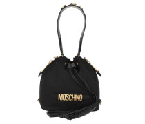 Beuteltasche Logo Bucket Bag Small Black schwarz