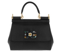 Sicily Small Tote Leather Black Tote