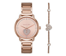 Uhr MK3827 Ladies Watch Heart Brilliance Rosegold rosa
