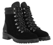Boots Lorren Chain Lace Up Bootie Black/Black schwarz