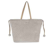 Velluto Stampa Sienna Handbag Light Grey Shopper