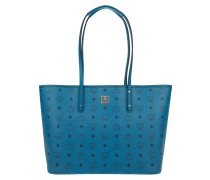 Anya Top Zip Shopper Medium Munich Blue