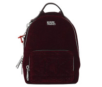 Karl X Kaia Velvet Mini Backpack Bordeaux Rucksack