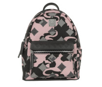 Stark Munich Lion Camo Backpack Mini Light Pink Rucksack rosa