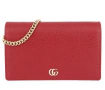 GG Marmont Mini Chain Bag Hibiscus Red