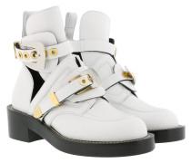 Ceinture Ankle Boots Blanc Schuhe