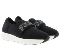 Neoprene Slip On Black Sneakers