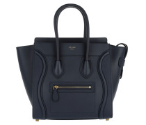 Tote Micro Luggage Calf Leather Tote Ink blau