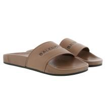 Pool Slide Sandals Beige Schuhe