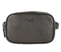 Gürteltasche Metallic Leather Dressy Belt Bag Metallic Graphite grau