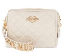 Borsa Nappa Pu Zip Small Shoulder Bag Avorio