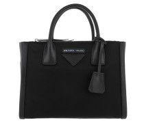 Concept Handle Bag Leather/Fabric Black Tasche