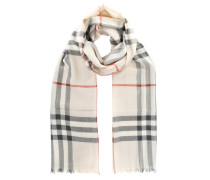 Giant Gauze Scarf Check Trench Schal