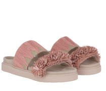 Schuhe Raffia Slipper Rose