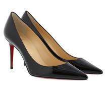Decollete Patent Heel Pumps Black