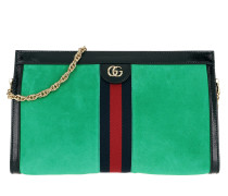 Dragoni Shoulder Bag Leather Green Tasche