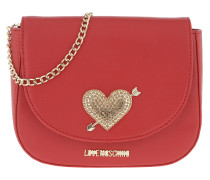 Umhängetasche Quilted Evening Crossbody Bag Red rot
