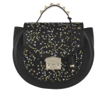 Eva Astral Glitter Handle Tote Bag Black
