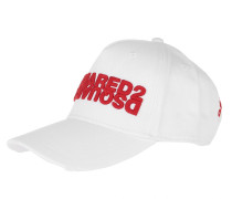 Caps Mirrored Logo Baseball Cap White/Red