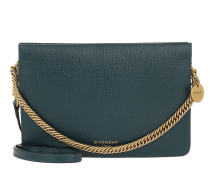 Umhängetasche Two-Toned Cross3 Bag Leather/Suede Blue/Pistacchio grün