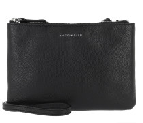 Vitello Pouch Shiny Nickel Noir