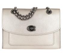 d69ae8c1ddd8b Umhängetasche Metallic Parker Shoulder Bag Platinum silber. Coach