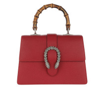 Dionysus Medium Top Handle Bag Leather Hibiscus Red Tasche