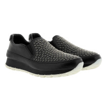 Slip-On Sneaker Studded Leather Black Sneakers
