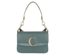 Umhängetasche Double Carry Small Shoulder Bag Leather Cloudy Blue blau