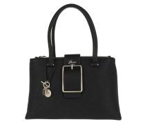 Caroline Status Satchel Bag Black Tote