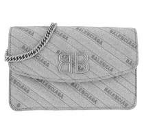 Umhängetasche BB Wallet On Chain Glitter Silver silber