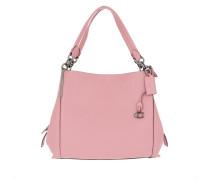 Tote Polished Pebble Leather Dalton Shoulder Bag Pink