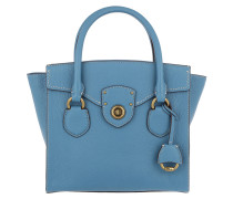 Millbrook Satchel Bag Pebbled Leather French Blue Tote
