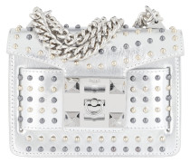Gaia Star Studded Metal Chain Shoulder Bag Silver