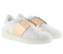 Bicolor Rockstud Sneaker White/Noisette Sneakers
